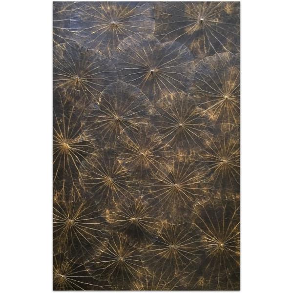 Lotusart aus Lotosblättern - 80 x 120 - Farbe Schwarz - SHERMANS®