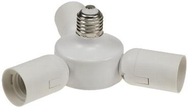 Triple-Adapter - aus 1x E27 wird 3x E27 Fassung - Chilitec
