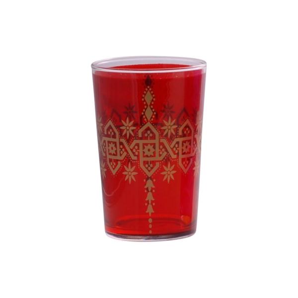 "Marokkanisches Teeglas ""Henna Berrad"" rot"