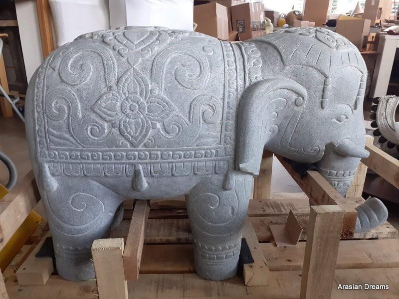 Gartenfigur Elefant groß