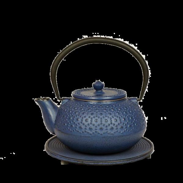 Teekanne Seito, 1.0 Liter, Blau, inkl. Untersetzer und Teesieb