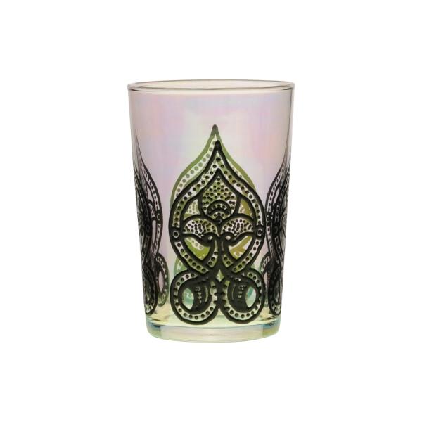 "Marokkanisches Teeglas ""Mirab"" iris - spülmaschinenfest"
