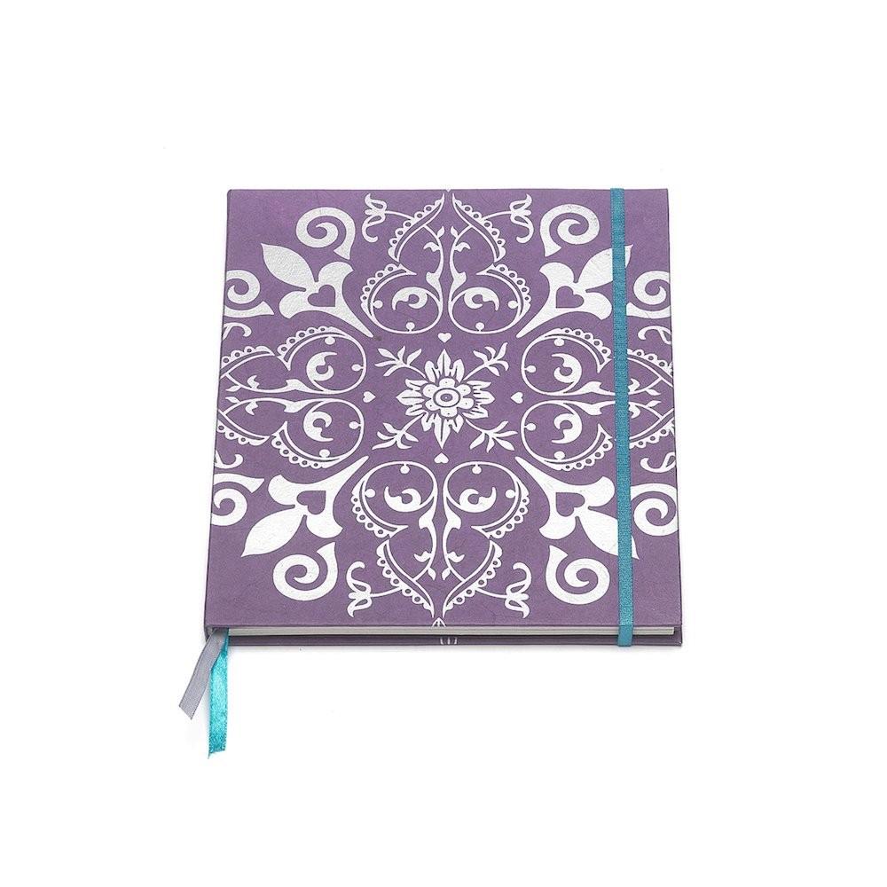 Notizbuch lila Büttenpapier 18x21cm