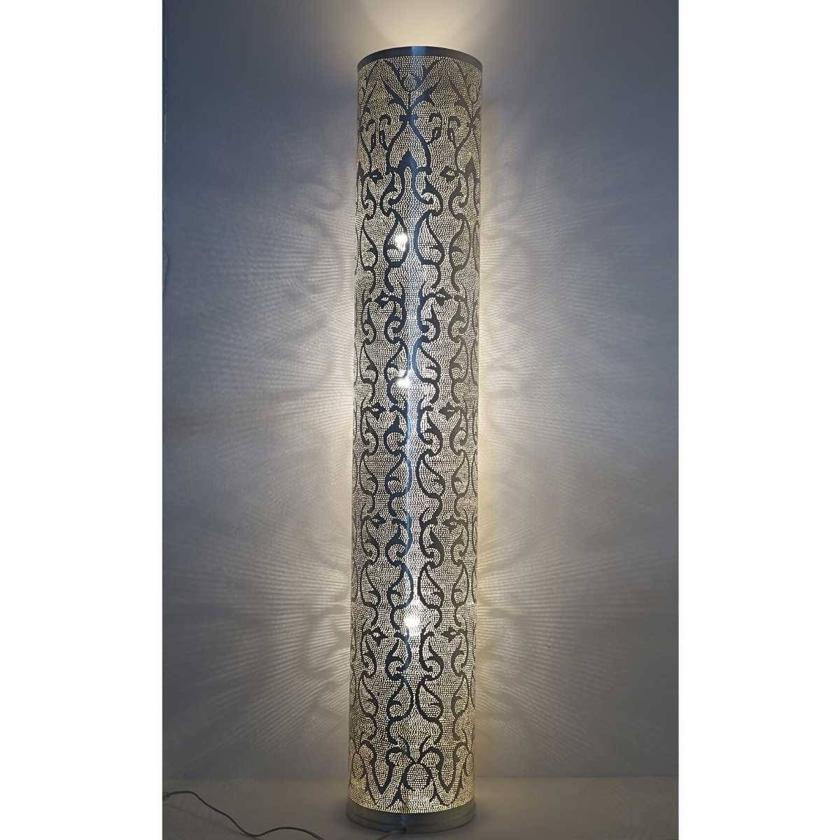 Stehlampe Tipua Filigree XL versilbert - Handwerk