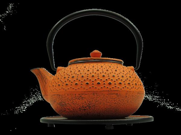 Teekanne Seito, 1.0 Liter, Orange, inkl. Untersetzer und Teesieb