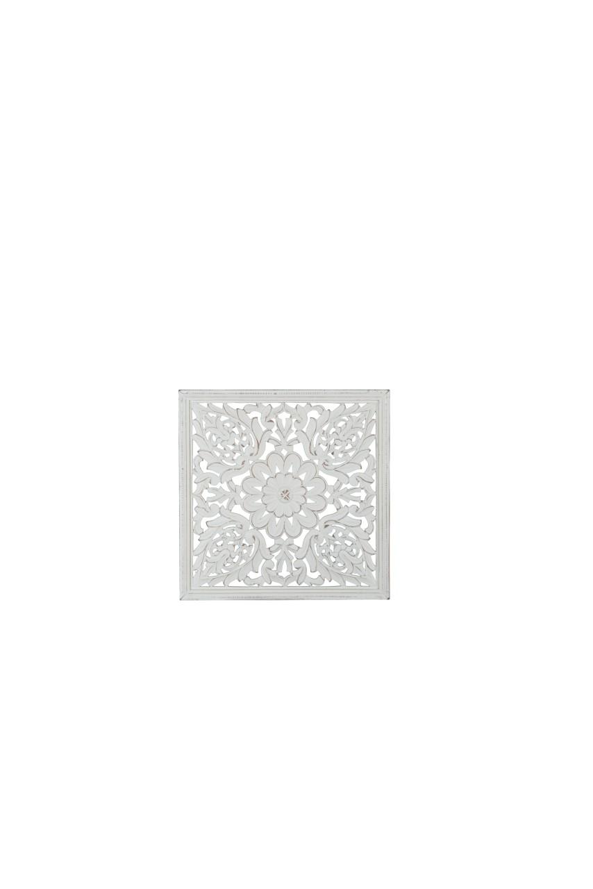 Wandbild / Wanddeko - 45 x 45cm - Holz MDF weiss lackiert
