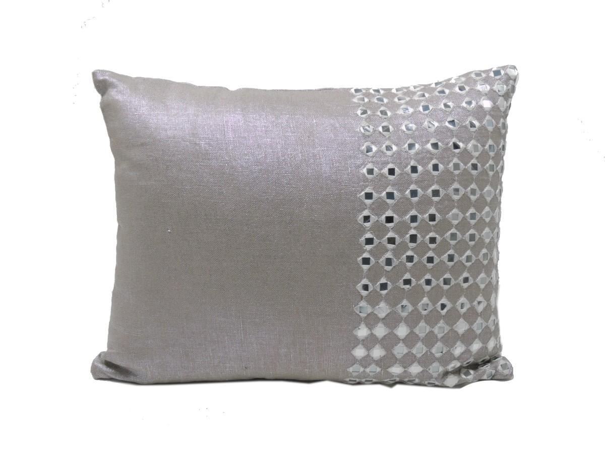 Dekokissen - Rajasthan - Metallic Powder Pink - 40x30cm - Zenza