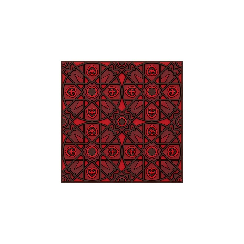 Untersetzer Silikon - Kalea Red - 9x9cm