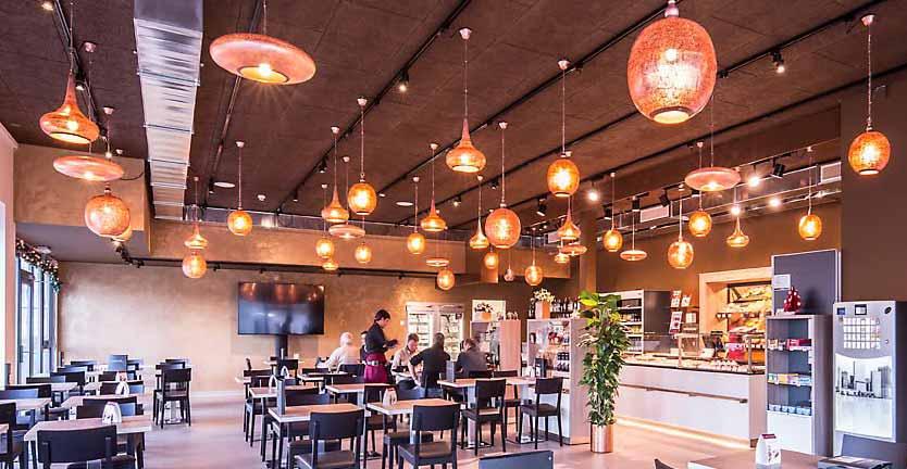 orientalische lampen Restaurant