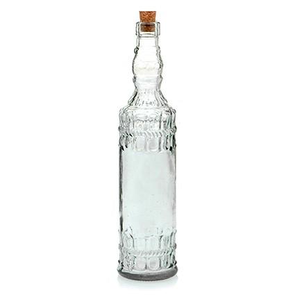Glasflasche Galicia 720 ml - klar - mit Kork - Kunsthandwerk - Van Verre
