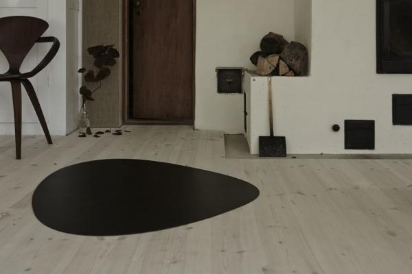 Lederteppich floorMAT in dunkelbrauner Croco-Musterung