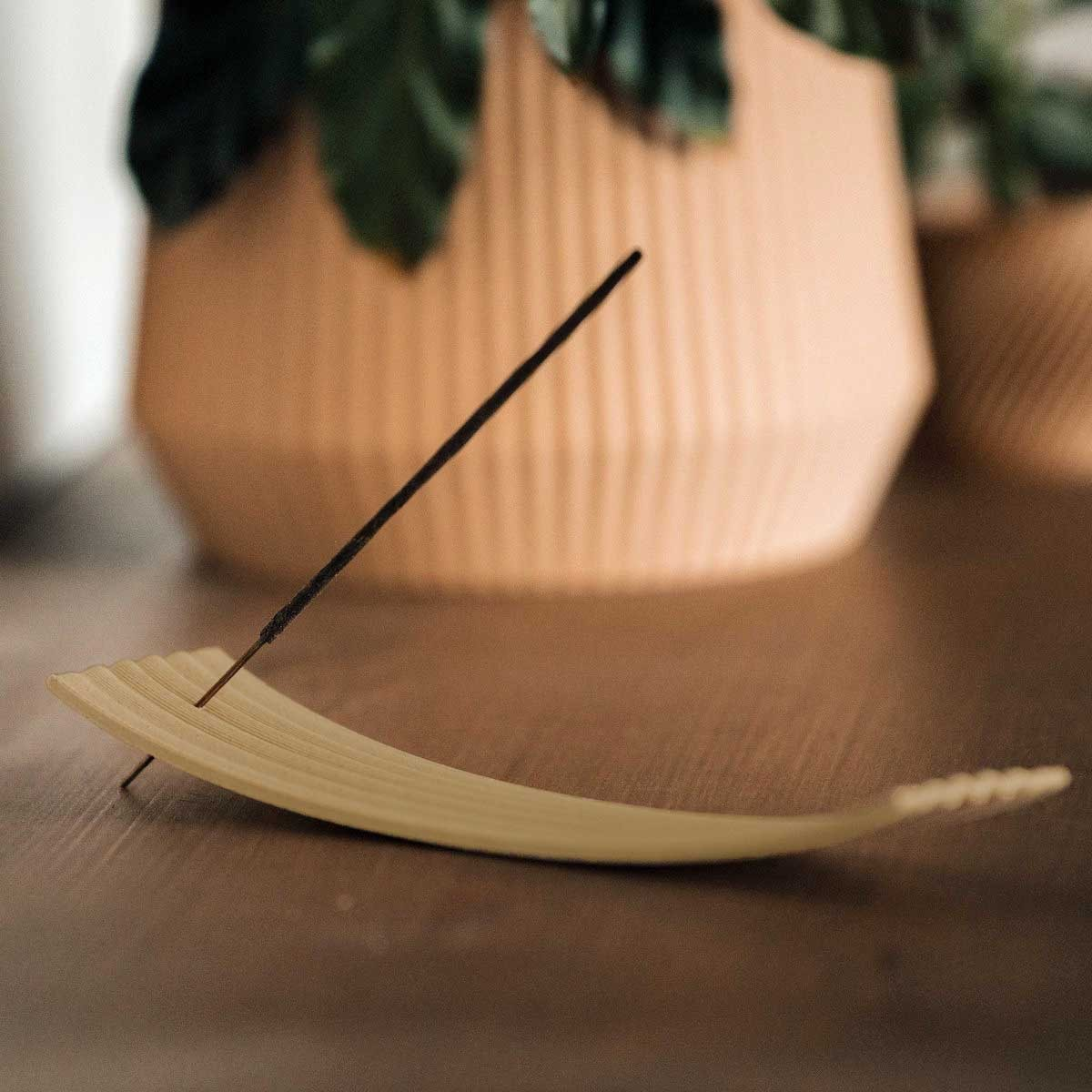 Räucherstäbchenhalter Holz Maisstärke Balance natur