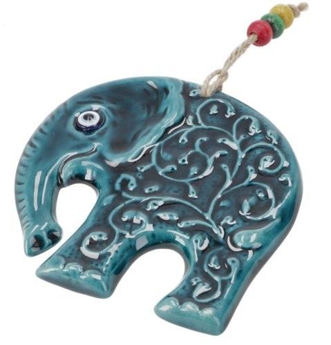 Keramik Elefant mit Schutzauge Handwerk Türkei