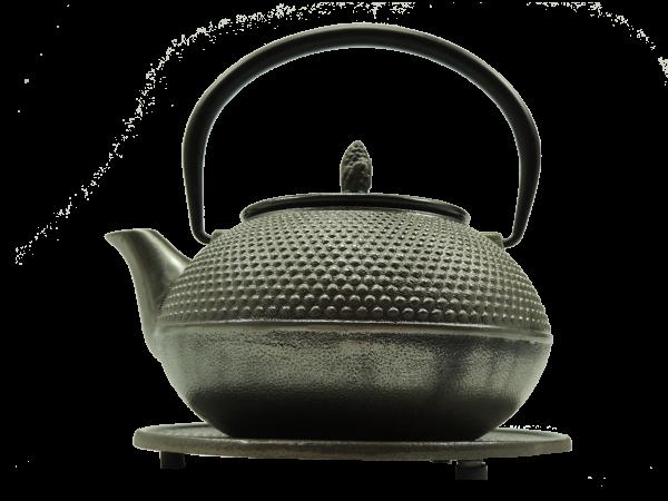 Teekanne Arare, 1.2 Liter, Silber, inkl. Untersetzer und Teesieb