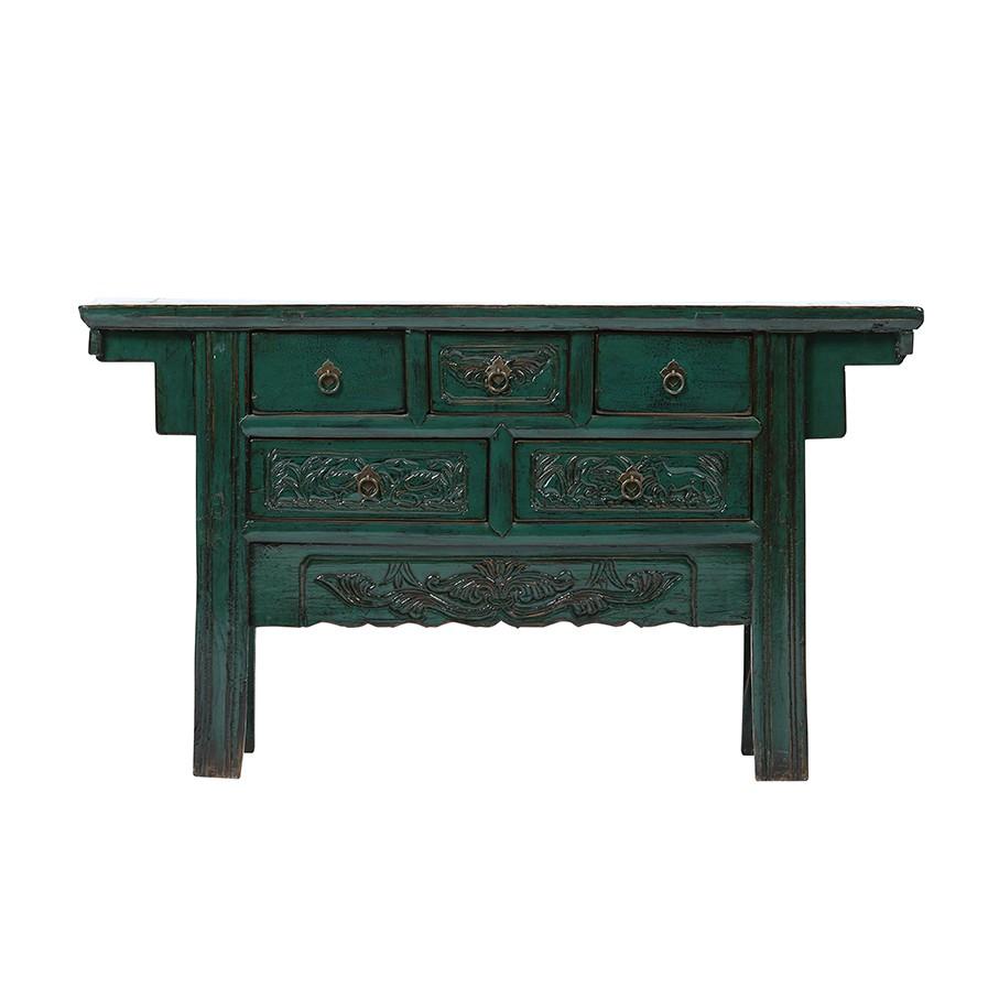 Kommode Gansu - Shanxi Möbel - Blau - Original ca. 80 Jahre alt