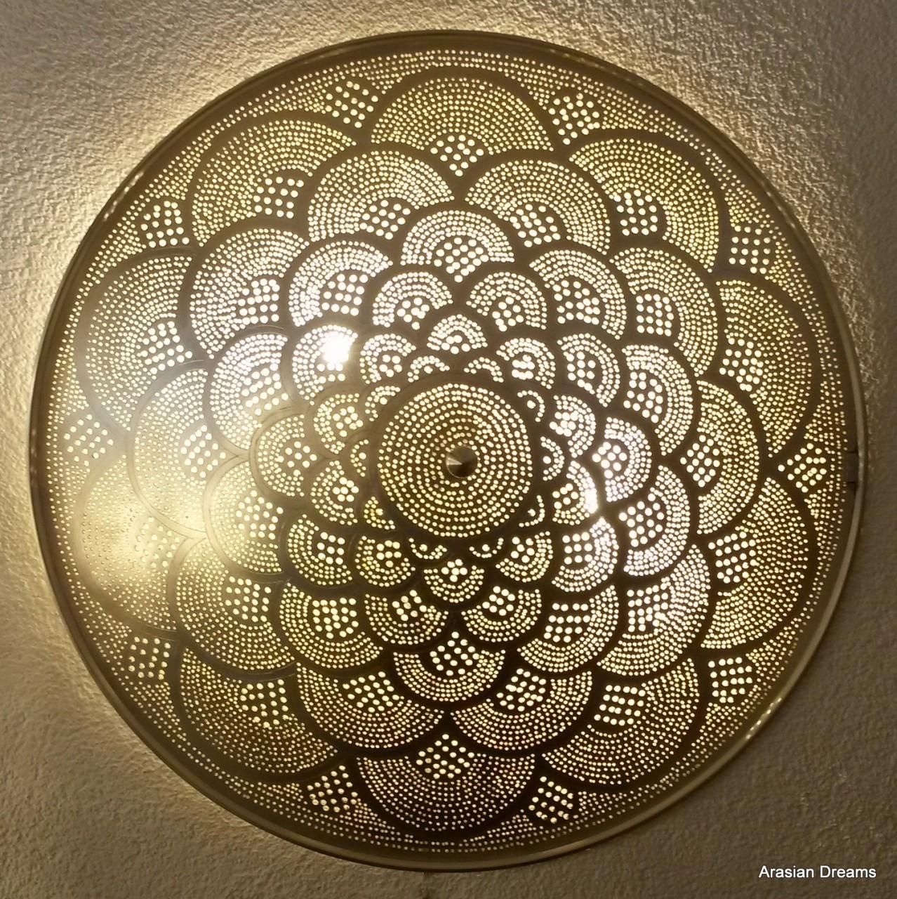 Wandlampe / Deckenlampe - 60 cm - versilbert - Fan XL - Zenza